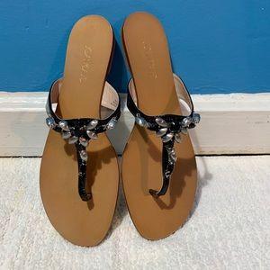 Joan and David thong sandals